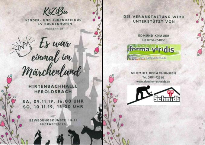 KiZiBu-Veranstaltung 2019 - 1. Vorstellung @ Hirtenbachhalle in Heroldsbach